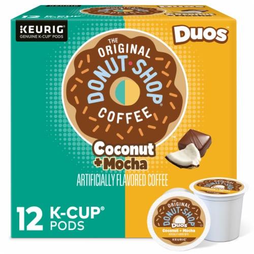The Original Donut Shop Coconut Mocha Medium Roast Coffee K-Cup Pods Perspective: front