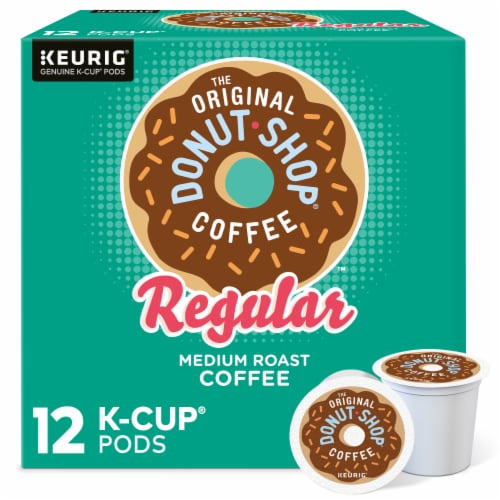 The Original Donut Shop Coffee Regular Medium Roast K-Cup Pods Perspective: front