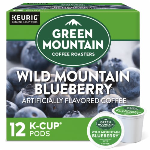 Green Mountain Coffee Wild Mountain Blueberry Flavored Coffee K-Cup Pods Perspective: front