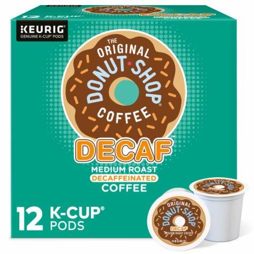 The Original Donut Shop Decaf Medium Roast Coffee K-Cup Pods Perspective: front