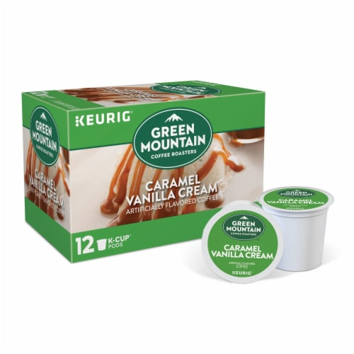Green Mountain Coffee Caramel Vanilla Cream Coffee K-Cup Pods Perspective: front