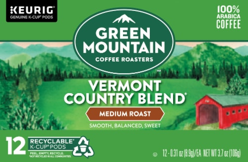 Green Mountain Coffee Vermont Country Blend Medium Roast K-Cup Pods Perspective: front