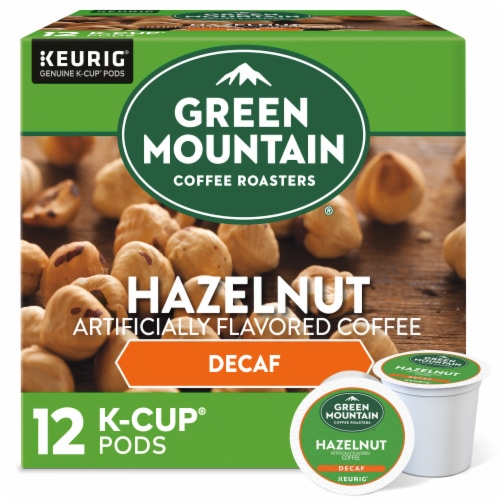 Green Mountain Coffee Roasters Decaf Hazelnut K-Cup Pods Perspective: front