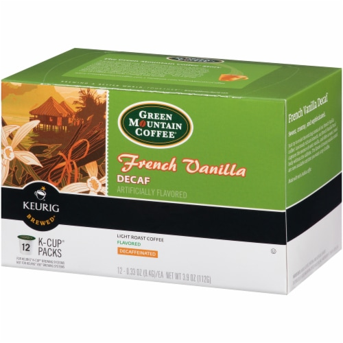 Green Mountain Coffee French Vanilla Decaf K-Cup Pods Perspective: front