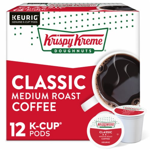 Krispy Kreme Classic Medium Roast Coffee K-Cup Pods Perspective: front