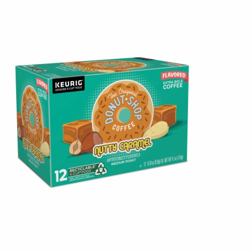 The Original Donut Shop Nutty Caramel Coffee K-Cup Pods Perspective: front