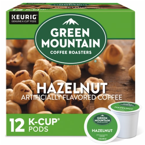 Green Mountain Coffee Hazelnut Coffee K-Cup Pods Perspective: front
