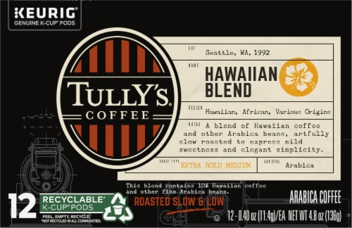 Tully's Coffee Hawaiian Blend K-Cup Pods Perspective: front