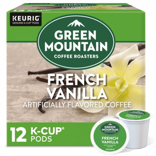 Green Mountain Coffee French Vanilla Flavored K-Cup Pods Perspective: front