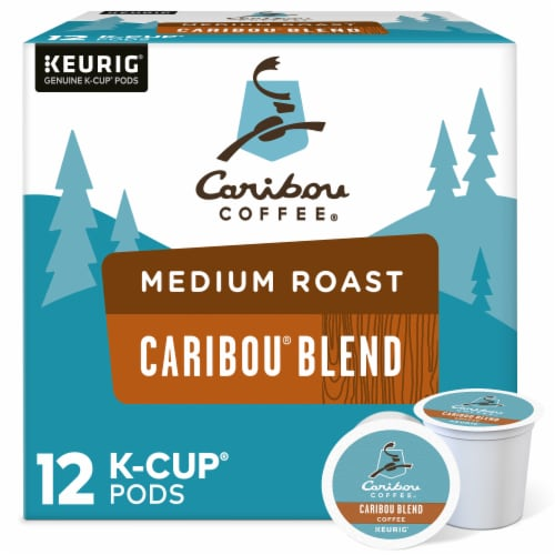 Caribou Coffee Caribou Blend Medium Roast K-Cup Pods Perspective: front