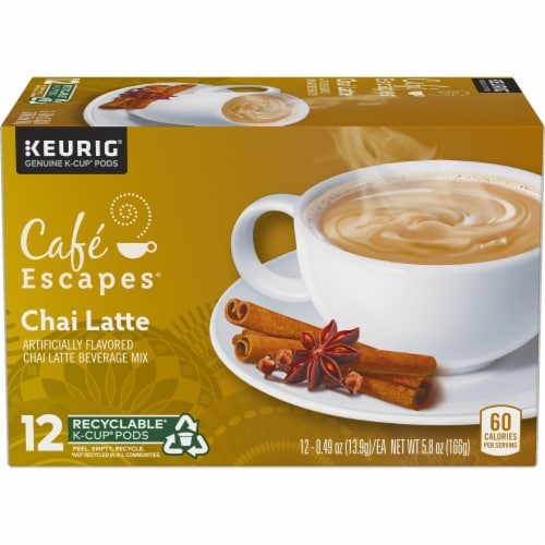 Cafe Escapes Chai Latte K-Cup Pods Perspective: front