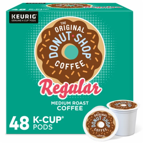 The Original Donut Shop Regular Medium Roast Coffee K-Cup Pods Perspective: front