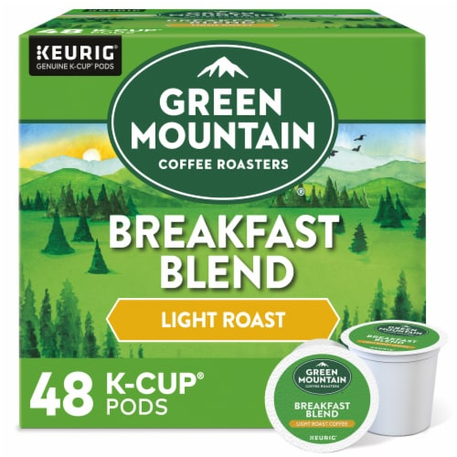 Green Mountain Coffee Roasters Light Roast Breakfast Blend Coffee K-Cup Pods Perspective: front