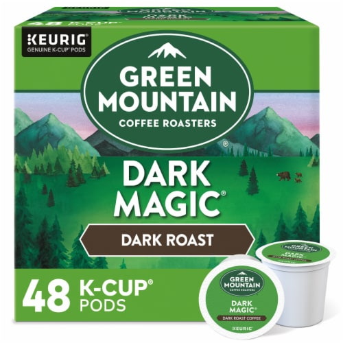 Green Mountain Dark Magic Dark Roast Coffee K-Cup Pods Perspective: front