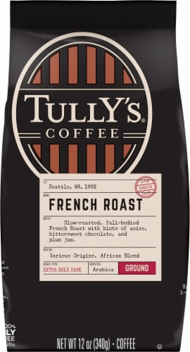 Tully's Coffee® French Roast Extra Dark Roast Ground Coffee Perspective: front