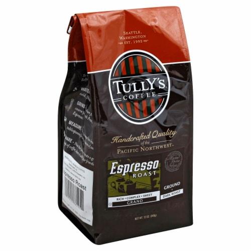 Tully's Espresso Dark Ground Roast Coffee Perspective: front
