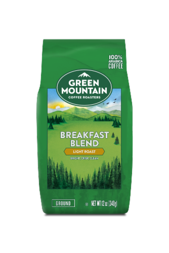 Green Mountain Coffee Breakfast Blend Light Roast Ground Coffee Perspective: front