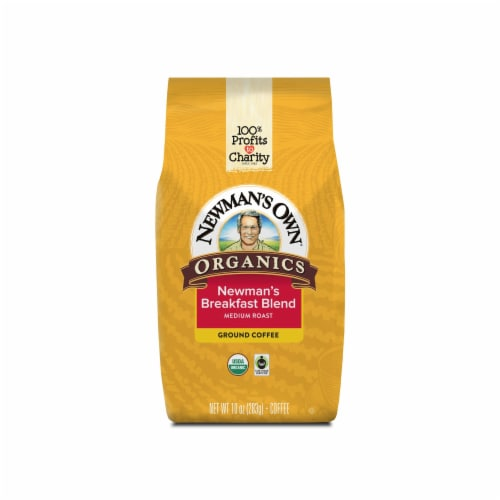 Newman's Own Organic Breakfast Blend Ground Coffee Perspective: front