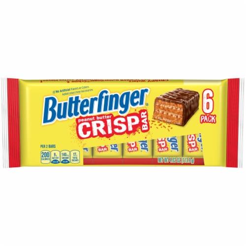 Butterfinger Peanut Butter Crisp Bars Perspective: front