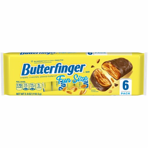Butterfinger Fun Size Candy Bars Perspective: front