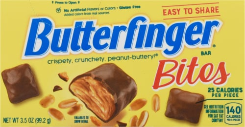 Butterfinger Bites Candy Theater Box Perspective: front