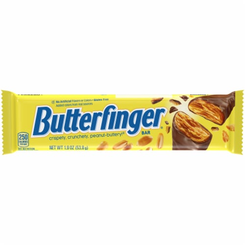 Butterfinger Candy Bar Perspective: front
