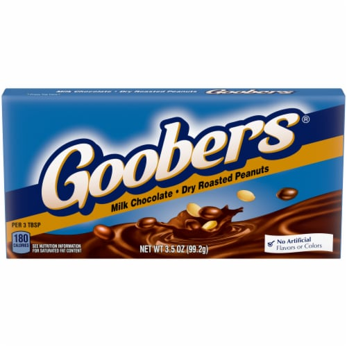 Goobers Milk Chocolate Fresh Roasted Peanut Candy Perspective: front
