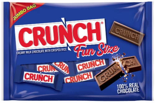 Crunch® 100% Milk Chocolate Fun Size Halloween Candy Bars Perspective: front