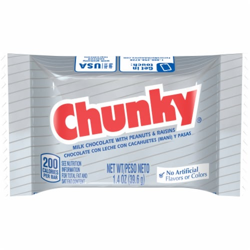 Chunky Milk Chocolate Candy Bar Perspective: front