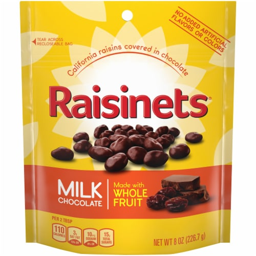 Raisinets Milk Chocolate Covered Raisins Perspective: front