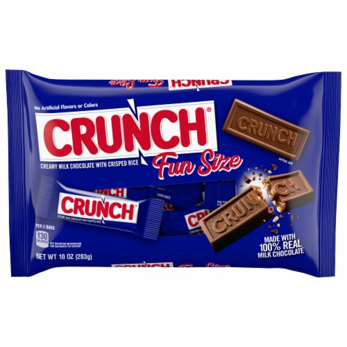 Crunch Fun Size Chocolate Bars Perspective: front