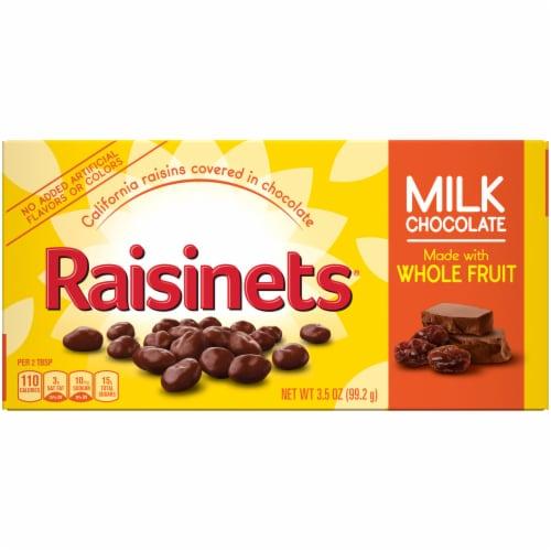 Raisinets Milk Chocolate Covered Raisins Perspective: front