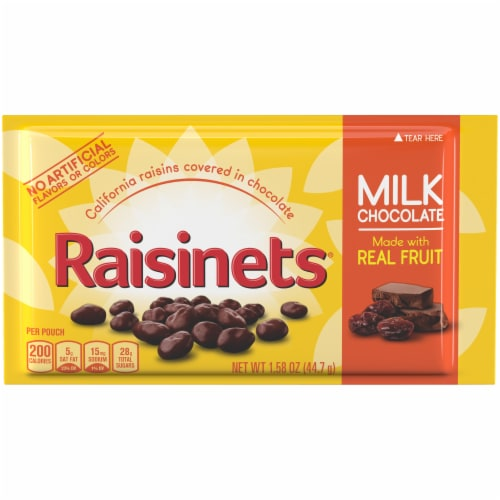 Raisinets Milk Chocolate Singles Perspective: front