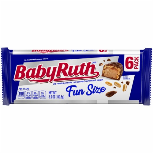 Baby Ruth Fun Size Candy Bars Perspective: front