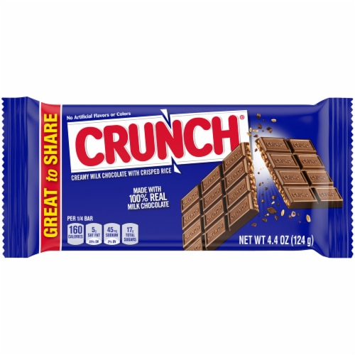 Crunch Candy Bar Perspective: front