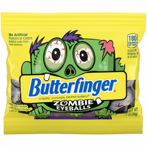 Butterfinger® Zombie Eyeballs Candy Bar Perspective: front