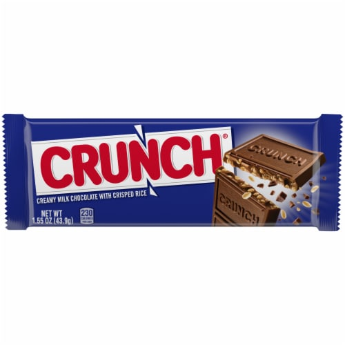 Crunch Milk Chocolate Crisped Rice Candy Bar Perspective: front