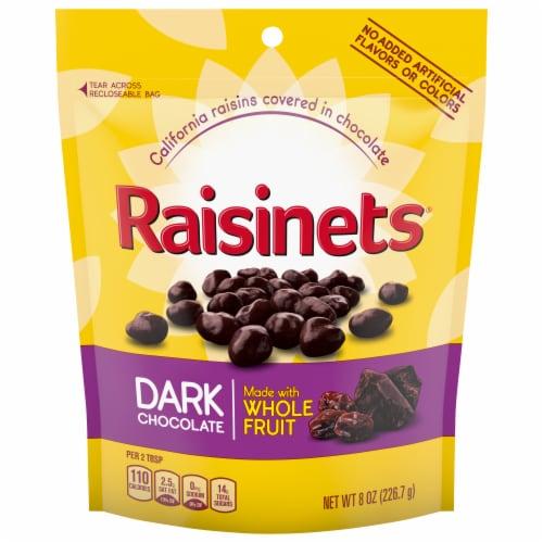 Raisinets Dark Chocolate Covered Raisins Perspective: front