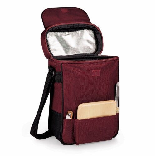 Duet Wine & Cheese Tote, Burgundy Perspective: front