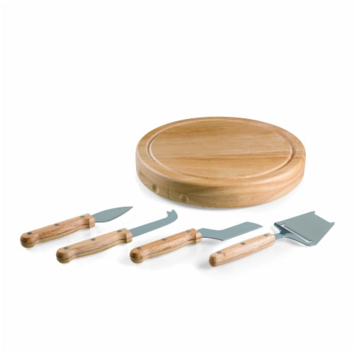 Circo Cheese Cutting Board & Tools Set, Rubberwood Perspective: front