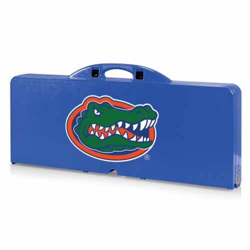 Florida Gators - Picnic Table Portable Folding Table with Seats Perspective: front