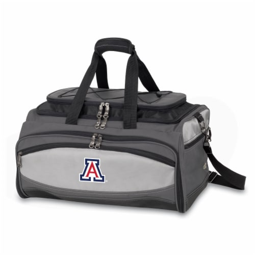 Arizona Wildcats - Portable Charcoal Grill & Cooler Tote Perspective: front