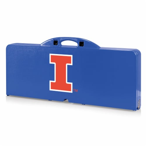 Illinois Fighting Illini - Picnic Table Portable Folding Table with Seats Perspective: front