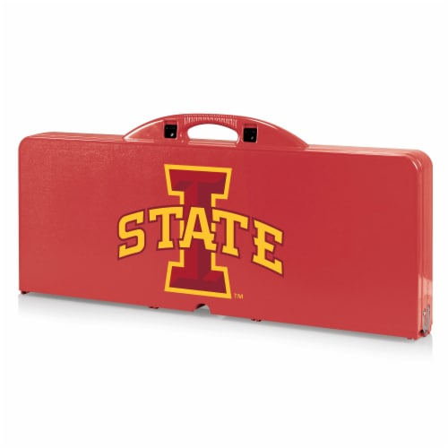 Iowa State Cyclones - Picnic Table Portable Folding Table with Seats Perspective: front
