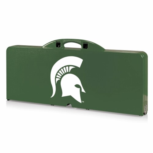 Michigan State Spartans - Picnic Table Portable Folding Table with Seats Perspective: front