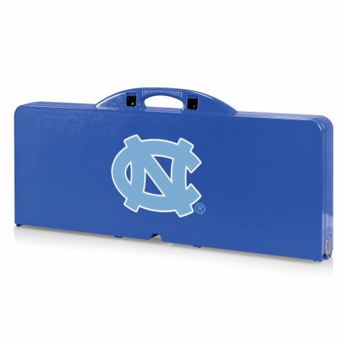 North Carolina Tar Heels - Picnic Table Portable Folding Table with Seats Perspective: front