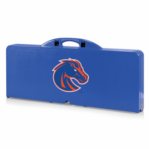 Boise State Broncos - Picnic Table Portable Folding Table with Seats Perspective: front