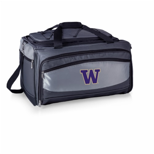 Washington Huskies - Portable Charcoal Grill & Cooler Tote Perspective: front