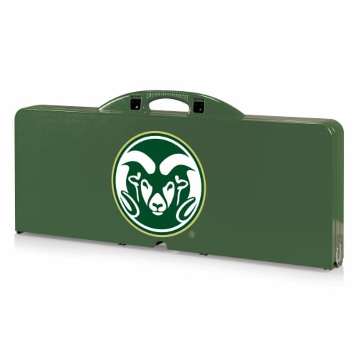 Colorado State Rams - Picnic Table Portable Folding Table with Seats Perspective: front