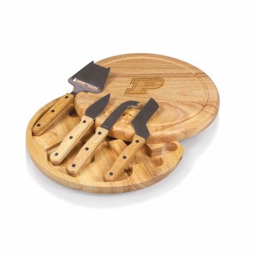 Purdue Boilermakers - Circo Cheese Cutting Board & Tools Set Perspective: front